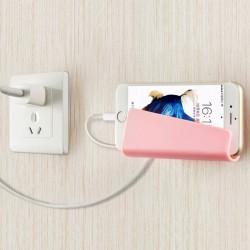黏貼式手機充電支架  無痕插座支架