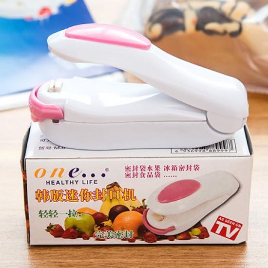 迷你塑膠袋封口機 小型手壓熱封機 封口夾 家用 便攜式