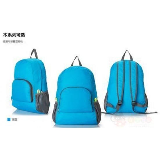 戶外便攜可折疊雙肩包 旅行登山包 防水尼龍運動後背包 雙肩背包