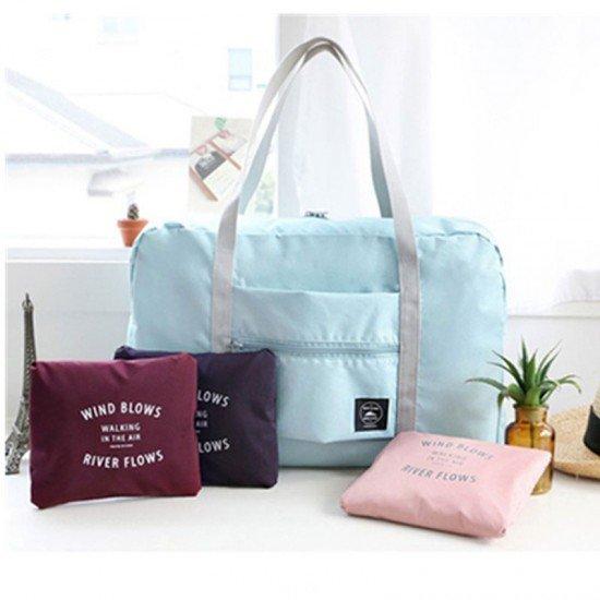 防水可折疊旅行包 購物單肩包 男女式加大整理袋 行李包 收納袋 旅行必備
