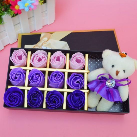 玫瑰香皂花禮盒 教師節 畢業 生日 母親節 情人節仿真花禮盒