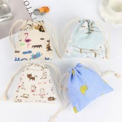 可愛動物束口袋 創意收納袋 隨身抽繩袋