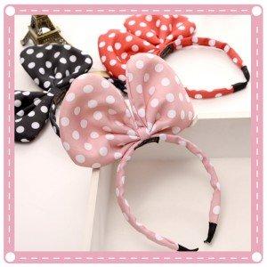 蝴蝶結造型髮箍 圓點兒童髮箍 可愛米奇頭箍
