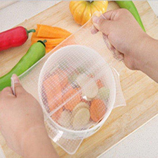 食品級矽膠保鮮膜 可重復使用密封保鮮膜