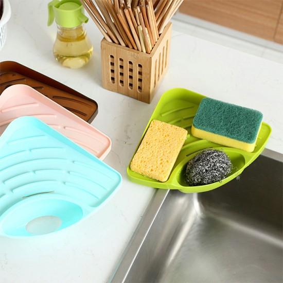 廚房水槽多功能海綿瀝水架 海綿杯刷雜物塑料收納置物架