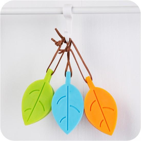 樹葉造型加厚矽膠安全門檔 居家安全必備小物