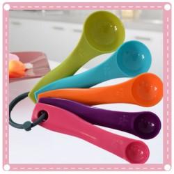 彩色量勺5件組 刻度調味料湯匙 烘焙工具