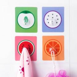 水果圖案黏貼掛勾  居家壁掛收納掛勾