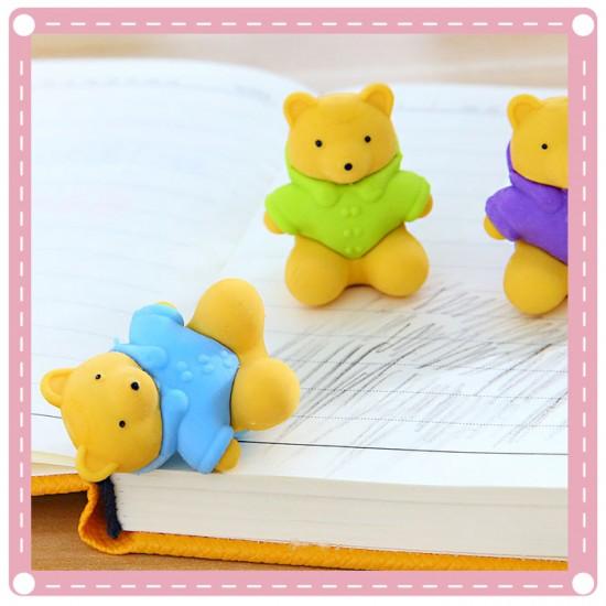 可愛小熊橡皮擦 立體動物橡皮擦 可站立造型擦子