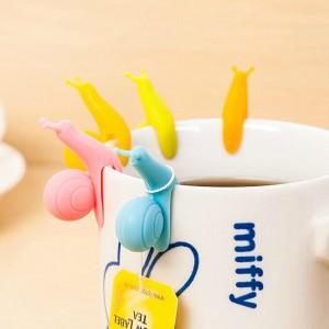 (5入)矽膠蝸牛造型茶包掛夾 杯緣子