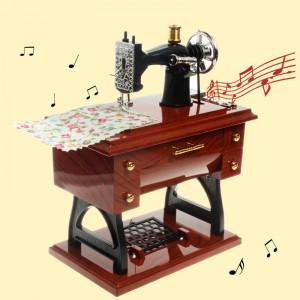 經典仿真縫紉機音樂盒 復古懷舊風音樂盒 首飾盒