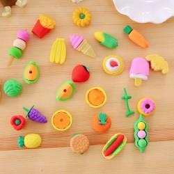 創意文具 學生用品 獎品 仿真食物 袋裝橡皮擦