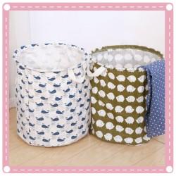 棉麻布藝可折疊髒衣籃 大號髒衣服收納籃 防水洗衣籃 玩具收納桶
