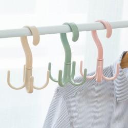 360°可旋轉S鉤 圍巾掛架 皮帶包包收納架 塑膠衣服掛勾