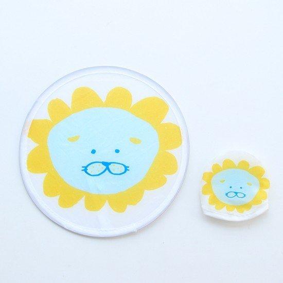 可折疊印花小圓扇 便攜式隨身飛盤 兒童玩具