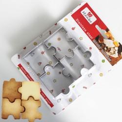 可愛拼圖不銹鋼餅乾模 烘焙DIY4入裝