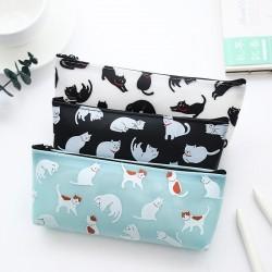 創意文具果凍筆袋 可愛貓咪立體矽膠簡約學生文具筆袋 收納袋