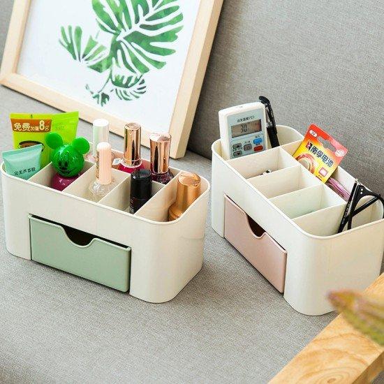 桌面小抽屜化妝盒 辦公桌儲物盒 多功能收納盒