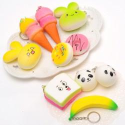 仿真食物鑰匙圈 甜甜圈麵包香味吊飾 水果造型吊飾 香蕉鑰匙圈