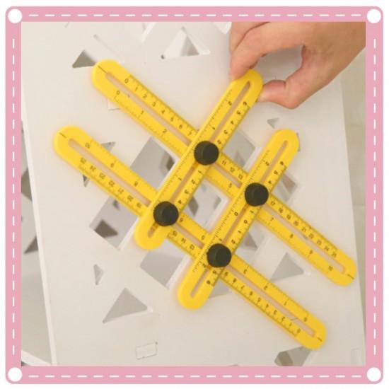 多用途任意角度折疊尺 多變四邊折尺 測量必備工具