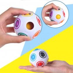 創意足球彩虹魔方球 減壓魔方 彩虹足球魔方 益智玩具