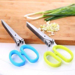 創意廚房五層剪刀 不銹鋼蔥花剪刀 辦公室碎紙剪刀