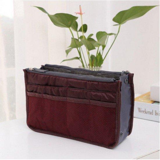 雙拉鏈包中包 化妝品收納包 海綿包 整理包