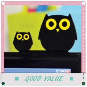 可愛動物桌面家居擺飾 電腦螢幕家庭裝飾小飾品