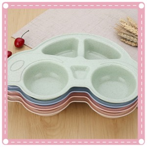 汽車造型餐盤 分隔餐盤 創意小麥秸稈盤子