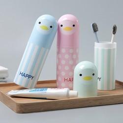 動物牙刷收納杯 旅游洗漱收納盒 漱口杯 牙刷盒