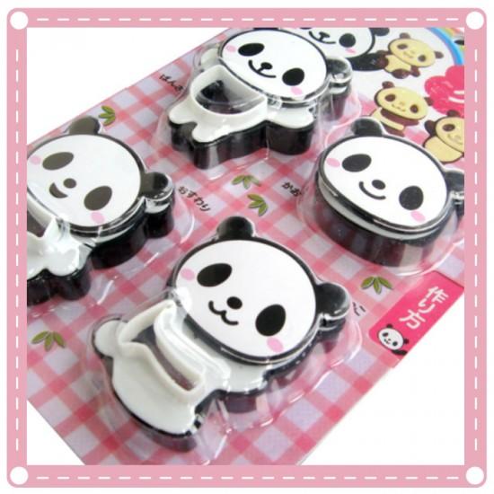 雙色熊貓餅乾模 卡通造型DIY餅乾模