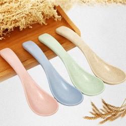 小麥秸稈環保加厚湯勺 攪拌湯匙  4支入
