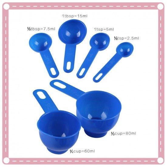 環保500ml量杯 PVC量勺組 帶刻度量杯量勺7件組 烘焙工具