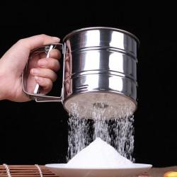 不鏽鋼大號手持麵粉篩 麵粉過篩杯 加用麵粉篩 廚房工具