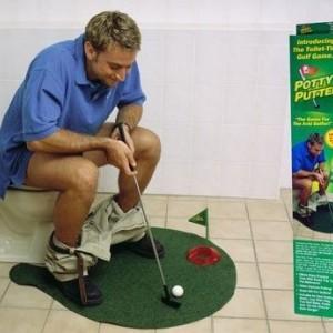 大號不無聊 廁所高爾夫球 迷你高爾夫玩具 無聊廁所玩具 交換禮物