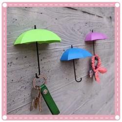 創意DIY強力雨傘造型收納掛勾 居家裝飾必備牆面掛勾 3個裝