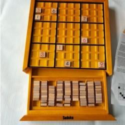 木製九宮格數獨棋益智玩具 抽屜式數獨玩具