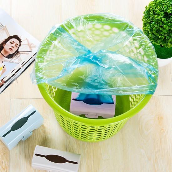 廚房壁掛式垃圾袋收納盒 抽取式垃圾袋整理盒 儲物盒