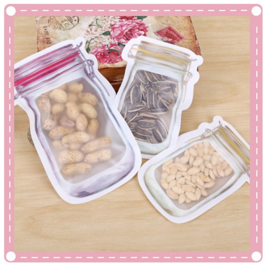 造型零食密封袋 餅乾夾鏈袋 食品保存收納袋