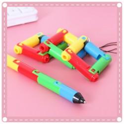 彩色可折疊玩具原子筆 創意兒童節禮物