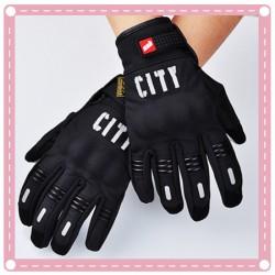 戶外越野賽車全指觸屏手套 摩托車手套 夜反光手套