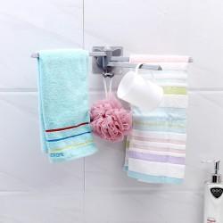 創意旋轉毛巾架 廚房抹布收納架 免鑽孔毛巾掛架