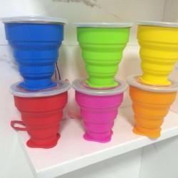 多功能創意摺疊水杯 戶外必備矽膠伸縮杯 方便攜帶摺疊杯