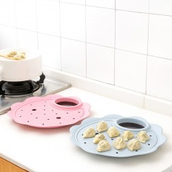 小麥雙層水餃盤 零食水果餐盤 醬醋碟