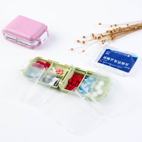 7格隨身藥盒 一周分藥盒 旅行收納盒