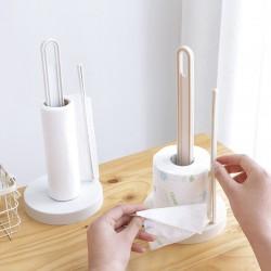廚房餐巾紙收納架 捲筒紙巾架 創意桌面立式餐巾紙收納架
