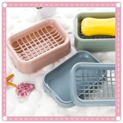 創意浴室肥皂盒 北歐雙層瀝水香皂盒 肥皂架
