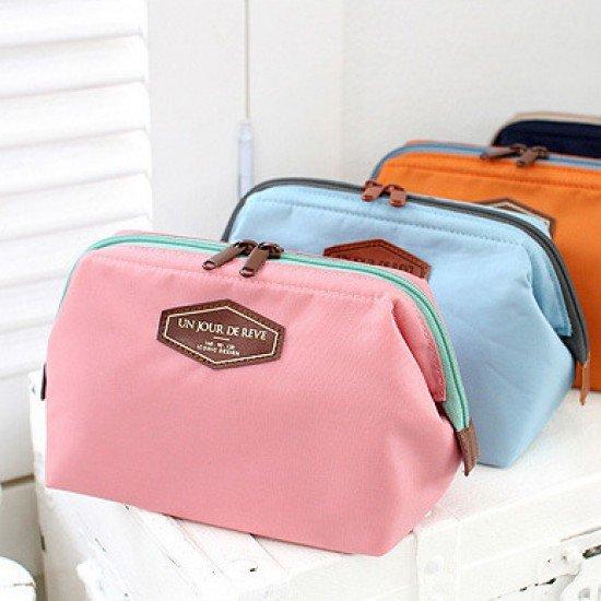 多功能時尚大口洗漱包 方便攜帶棉布化妝包