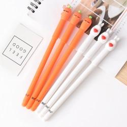 兔子胡蘿蔔造型中性筆2入裝 可愛蔬菜造型原子筆