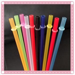 (10入)彩色塑膠硬質吸管 可重複使用